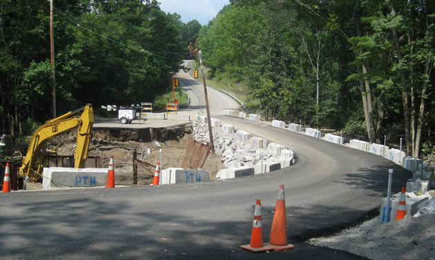 Indian Hill Emergency Roadway Replacement after the August 2009 Flood